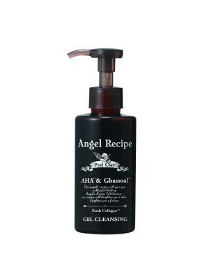 Гель для очищения и снятия макияжа с тройным коллагеном, углем, глиной фруктовыми кислотами ANGEL RECIPE. Цвет: черный