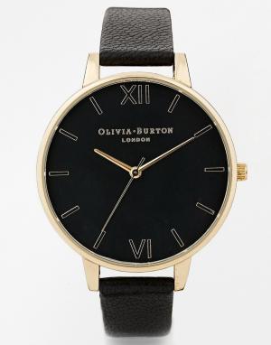 Olivia Burton Черные часы с большим циферблатом. Цвет: черный