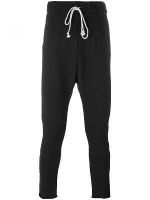 Спортивные брюки с эластичным поясом Poème Bohémien. Цвет: чёрный