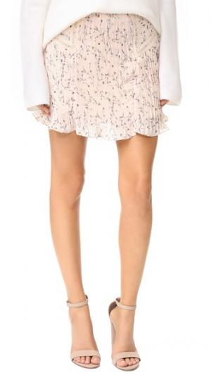 Плиссированная юбка Moon River. Цвет: розовый