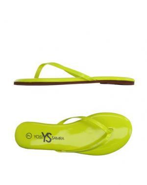 Вьетнамки YOSI SAMRA. Цвет: желтый