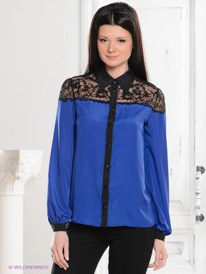 Блузка Dino Chizari. Цвет: синий, черный