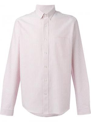Рубашка в полоску Ami Alexandre Mattiussi. Цвет: красный