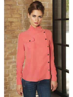Блуза С кнопками Вестетика. Цвет: коралловый, красный