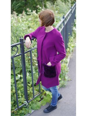 Пальто PuhOvka. Цвет: фиолетовый