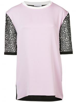 Блуза с контрастными рукавами Vionnet. Цвет: розовый и фиолетовый