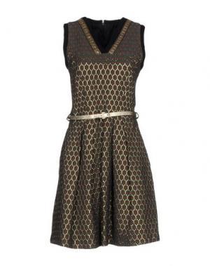 Короткое платье DIDIER PARAKIAN. Цвет: цвет морской волны