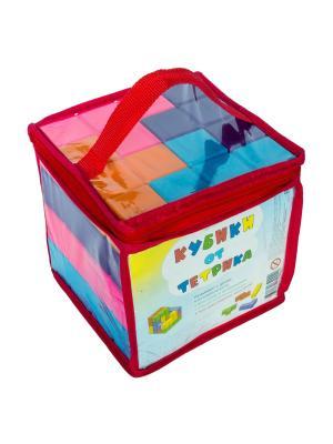 Игровой набор Кубики от Тетрика. Цвет: голубой, фиолетовый, оранжевый, розовый
