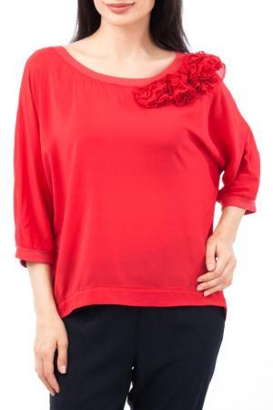 Свободная блуза с декором EUROPEAN CULTURE. Цвет: красный