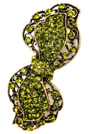 Винтажная заколка FRANSUA ARDY. Цвет: зеленый