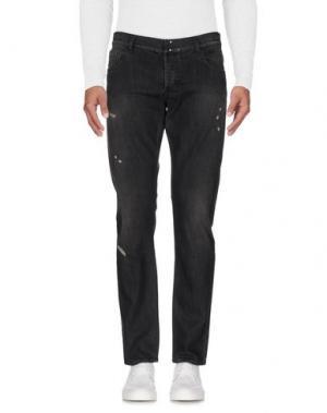 Джинсовые брюки MESSAGERIE. Цвет: стальной серый