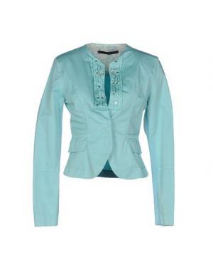 Пиджак ANNARITA N.. Цвет: бирюзовый
