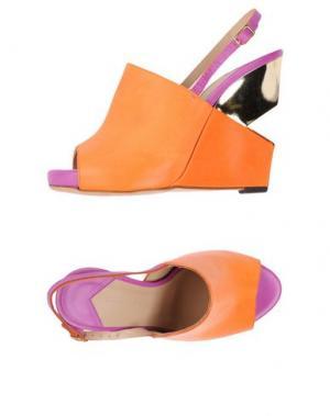 Сандалии CHARLINE DE LUCA. Цвет: оранжевый