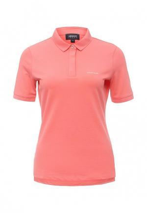 Поло Armani Jeans. Цвет: розовый