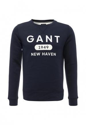 Свитшот Gant. Цвет: синий