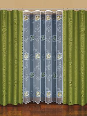 Комплект штор Haft. Цвет: оливковый, белый