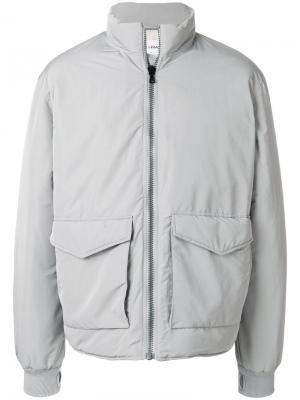 Дутая куртка с воротником-воронкой Our Legacy. Цвет: серый