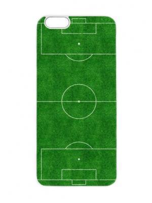 Чехол для iPhone 6 Футбольное поле Chocopony. Цвет: темно-зеленый, белый, кремовый