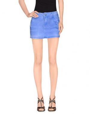 Джинсовая юбка JFOUR. Цвет: лазурный
