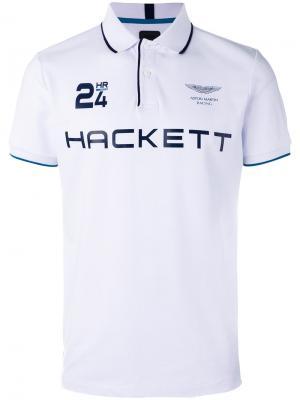 Рубашка-поло с логотипом Hackett. Цвет: белый