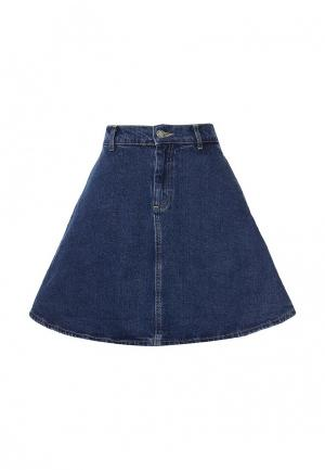 Юбка джинсовая Miss Selfridge. Цвет: синий