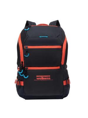 Рюкзак Grizzly. Цвет: черный, оранжевый