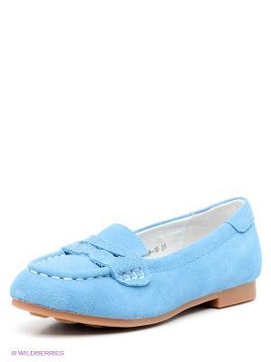 Мокасины Vitacci. Цвет: голубой