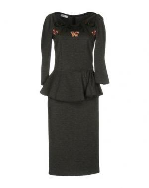 Платье до колена TENAX. Цвет: свинцово-серый