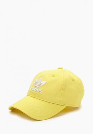 Бейсболка adidas Originals. Цвет: желтый