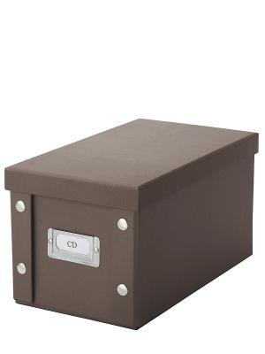 Коробка для CD дисков DEEPOT. Цвет: коричневый
