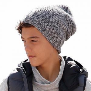 Вязаная шапка в стиле «Beenie» для детей Otto. Цвет: серый