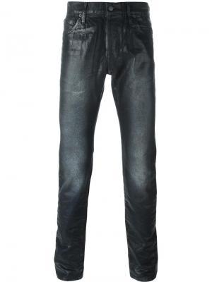 Вощеные джинсы кроя слим Htc Hollywood Trading Company. Цвет: чёрный