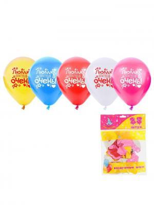 Набор воздушных шаров А М Дизайн. Цвет: фиолетовый, желтый, красный