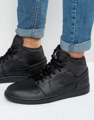 Jordan Черны кроссовки Nike Air 1 554724-034. Цвет: черный