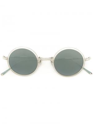 Солнцезащитные очки с круглой оправой Matsuda. Цвет: металлический