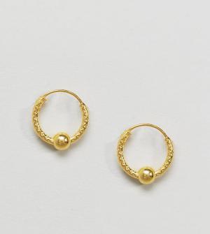 Kingsley Ryan Золотистые серьги-кольца. Цвет: золотой
