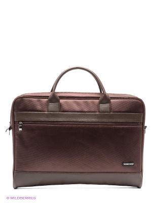 Сумка для ноутбука Cross Case. Цвет: коричневый