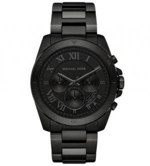 Часы-хронограф в черном металлическом корпусе Michael Kors