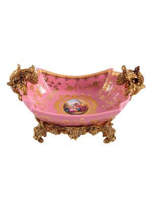 Ваза декоративная Русские подарки. Цвет: золотистый, розовый