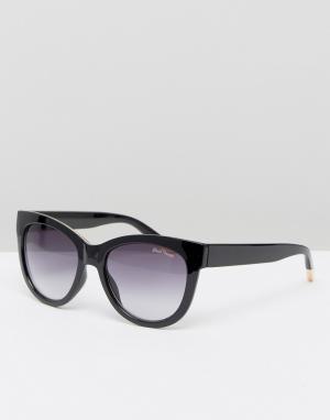 Black Phoenix Массивные солнцезащитные очки кошачий глаз. Цвет: черный