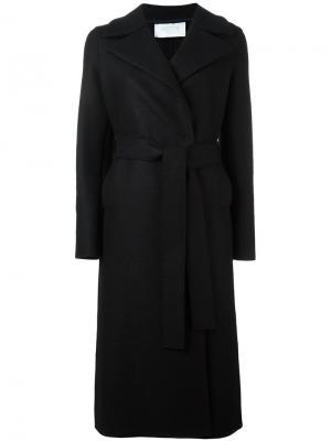 Пальто с поясом Harris Wharf London. Цвет: чёрный