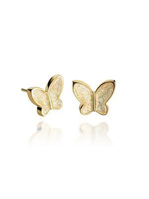 Гвоздики Перламутровые бабочки в золоте Dragon Porter. Цвет: светло-бежевый
