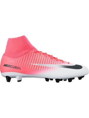 Бутсы MERCURIAL VICTORY VI DF AGPRO Nike. Цвет: розовый