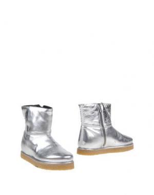 Полусапоги и высокие ботинки PAUSE. Цвет: серебристый