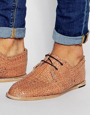 Hudson London Плетеные туфли Barra. Цвет: коричневый