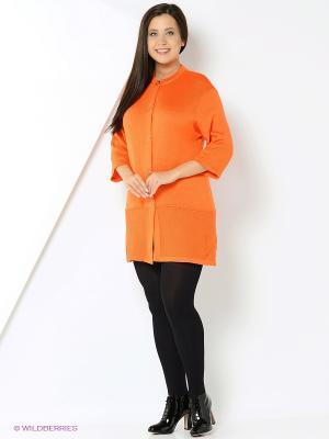 Кардиган ТЕО. Цвет: оранжевый
