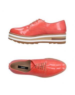 Обувь на шнурках ZINDA. Цвет: коралловый