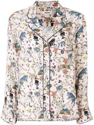 Рубашка с принтом Zadig & Voltaire SFCM0502F12359044