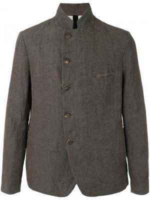Куртка Slashed Mess Forme Dexpression D'expression. Цвет: коричневый