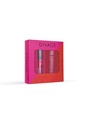 Набор подарочный № 66: тушь 90х60х90 6101 + блеск для губ crystal shine 08 DIVAGE. Цвет: черный
